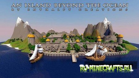 Карта An Island beyond the Ocean для minecraft