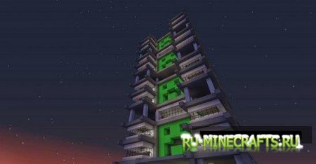 Карта Creeper tower для minecraft
