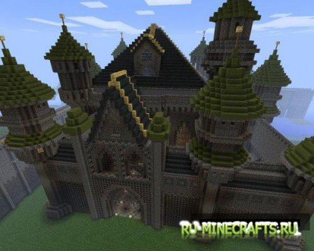Карта Feast Castle - fantasy castle для minecraft