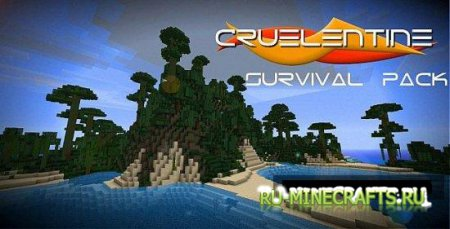 Текстур пак Cruelentine Survival Pack [32x] для minecraft 1.4.7