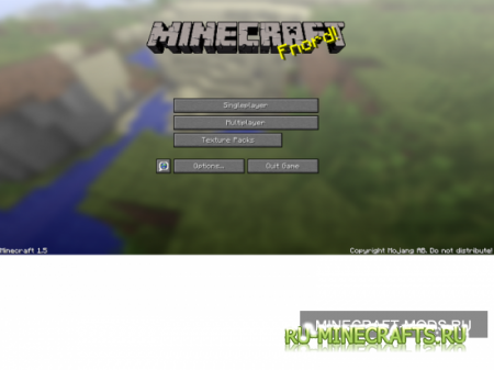 Texture Pack on Main Menu [1.5.1]