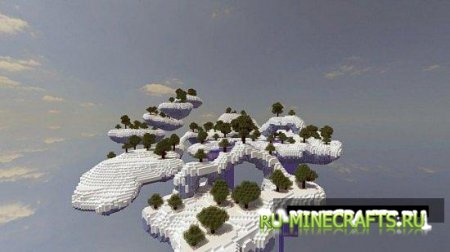 Карта Frozen Floating Islands для minecraft