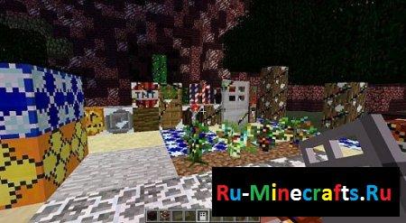 Новогодний ресурспак для Minecraft [32x][1.7.2]