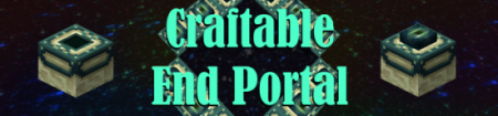Мод Craftable End Portal [1.7.2]