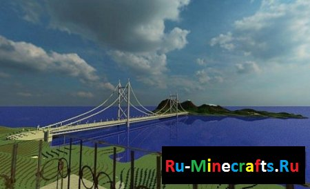 Карта Minecraft Mega Building: Mega Bridge