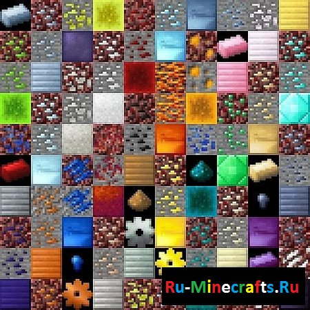 Ресурспак Unified Ore Colors [16х][1.7.9]